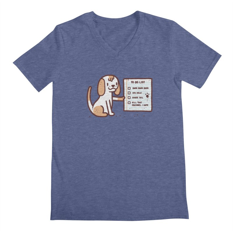 Dog to do Men's V-Neck by Randyotter