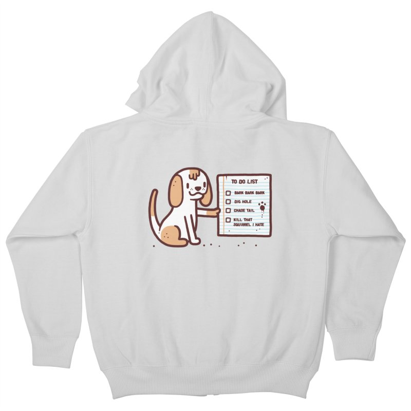 Dog to do Kids Zip-Up Hoody by Randyotter