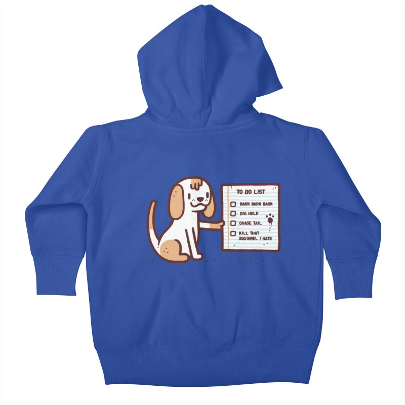 Dog to do Kids Baby Zip-Up Hoody by Randyotter
