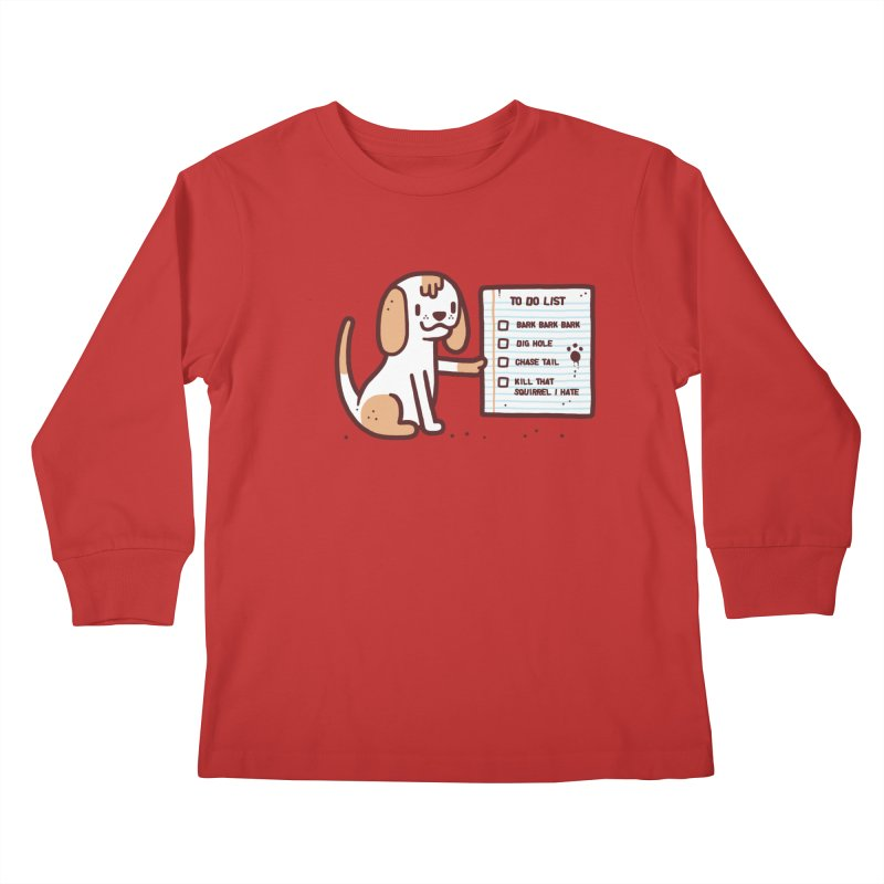 Dog to do Kids Longsleeve T-Shirt by Randyotter