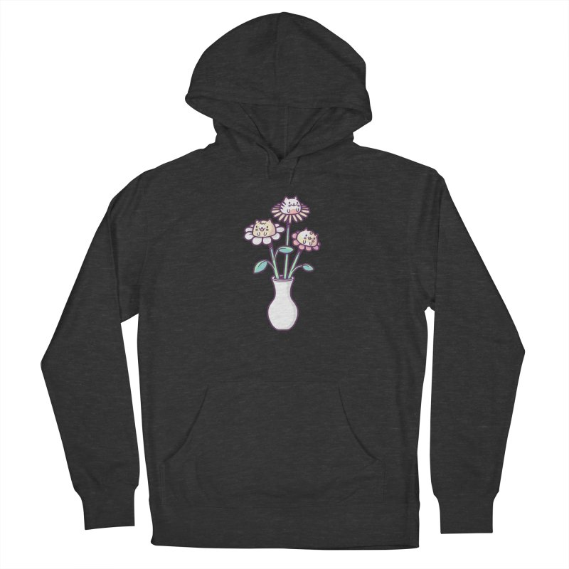 Flower felines Women's French Terry Pullover Hoody by Randyotter