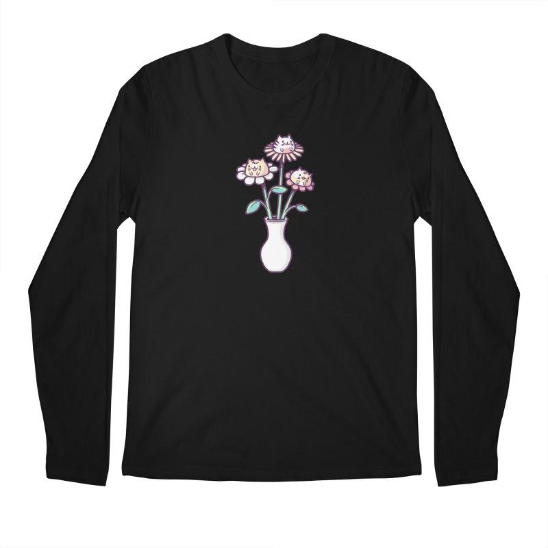 Flower felines Men's Longsleeve T-Shirt by Randyotter