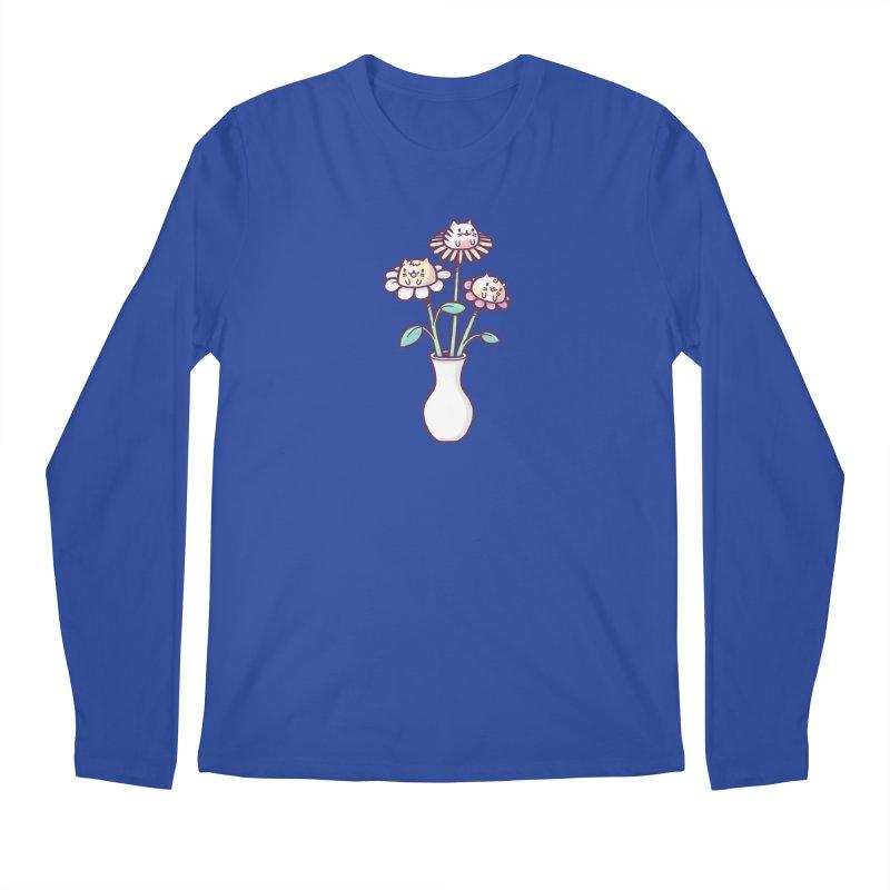 Flower felines Men's Regular Longsleeve T-Shirt by Randyotter