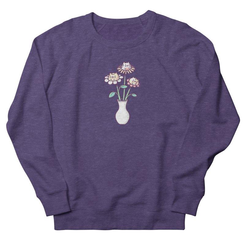 Flower felines Men's French Terry Sweatshirt by Randyotter