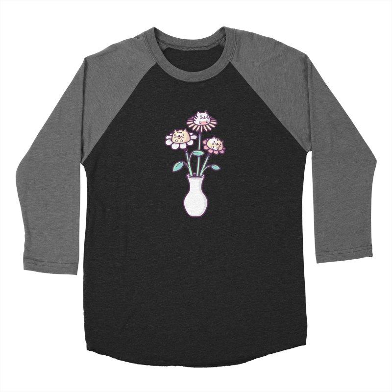 Flower felines Women's Baseball Triblend T-Shirt by Randyotter