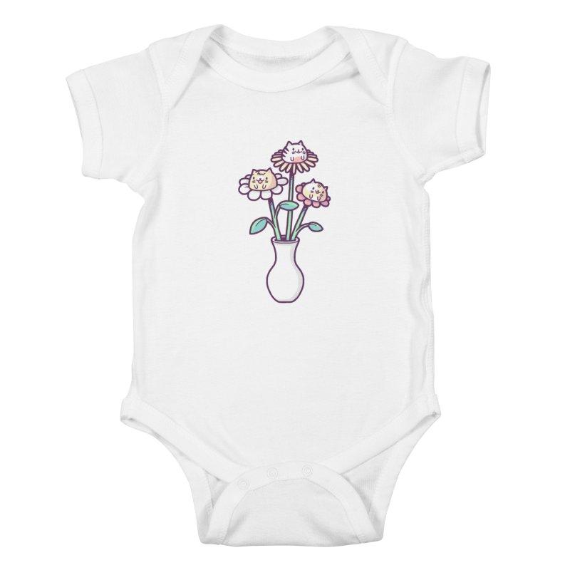 Flower felines Kids Baby Bodysuit by Randyotter