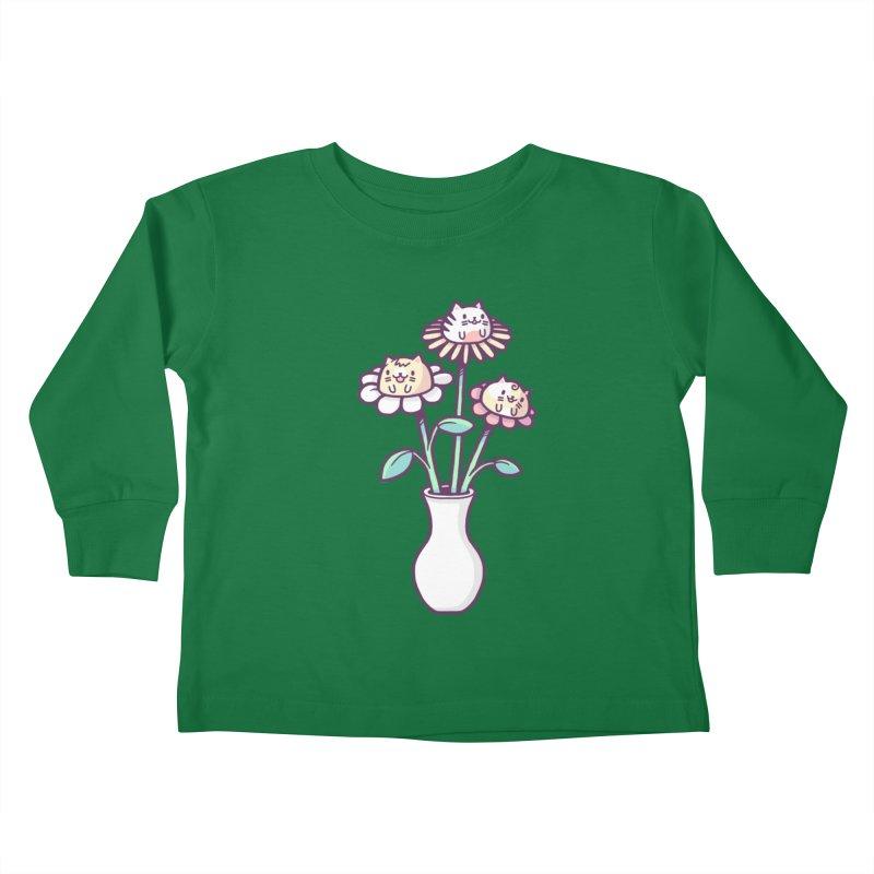 Flower felines Kids Toddler Longsleeve T-Shirt by Randyotter