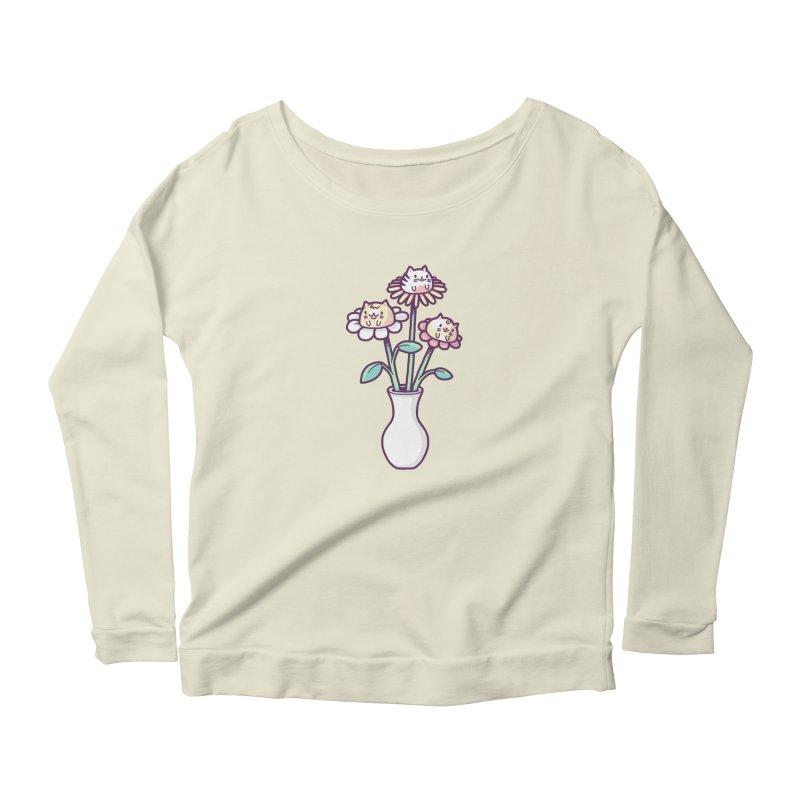 Flower felines Women's Longsleeve Scoopneck  by Randyotter