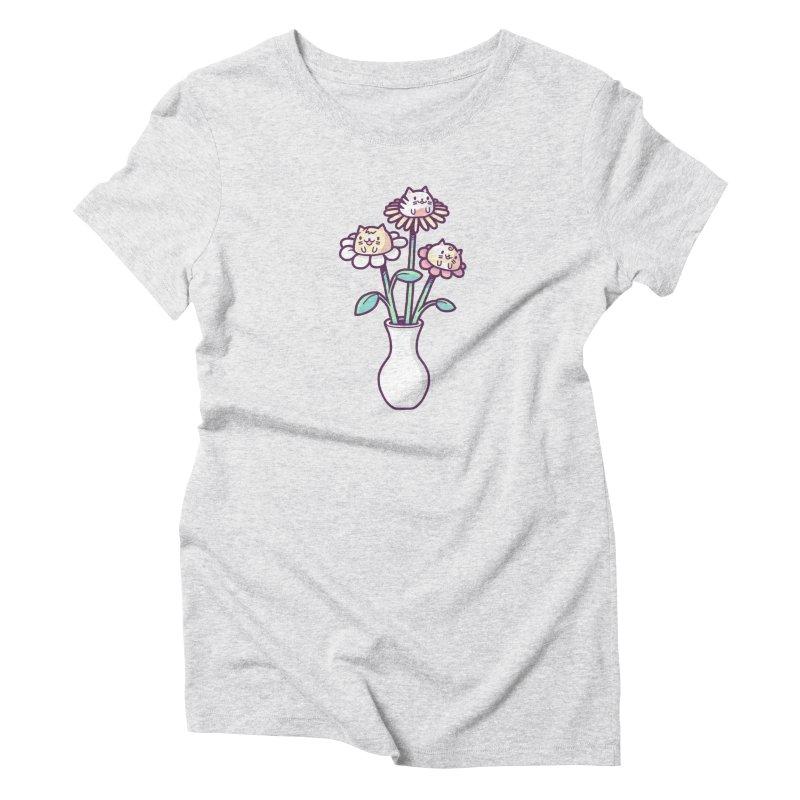 Flower felines Women's Triblend T-Shirt by Randyotter