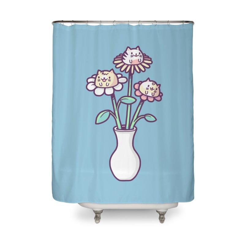 Flower felines Home Shower Curtain by Randyotter