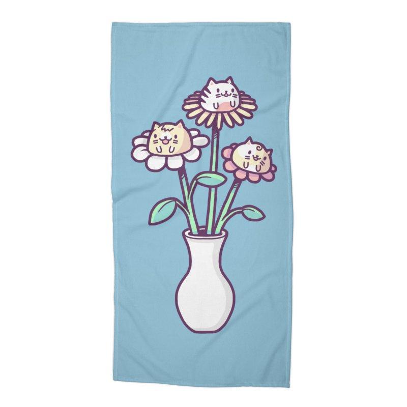 Flower felines Accessories Beach Towel by Randyotter