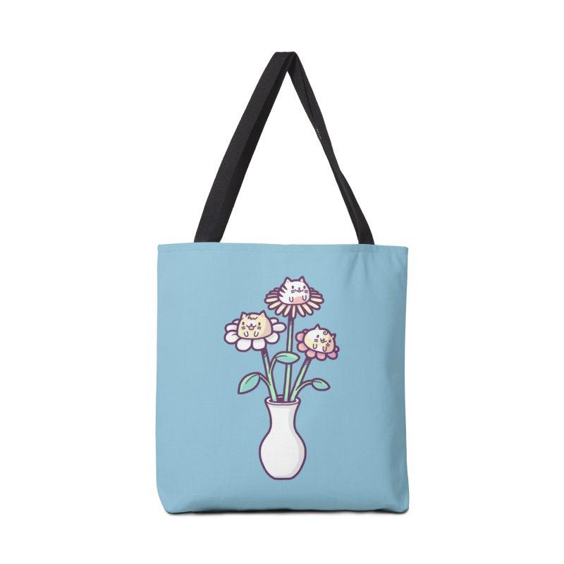 Flower felines Accessories Bag by Randyotter