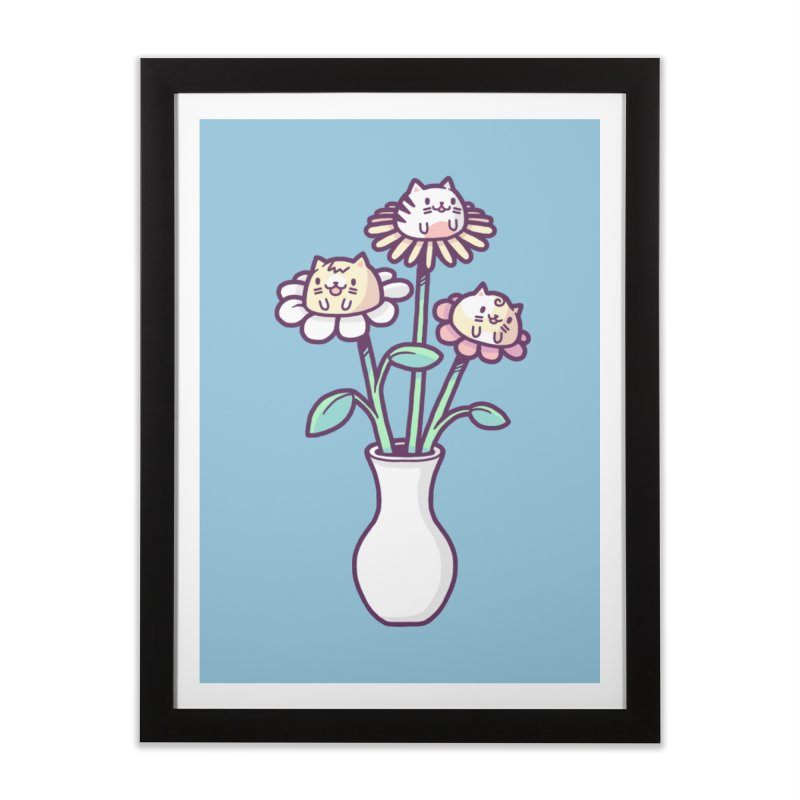 Flower felines Home Framed Fine Art Print by Randyotter
