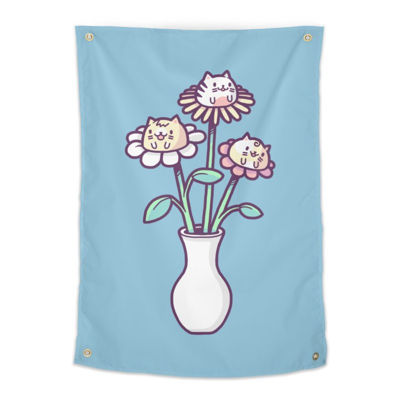 Flower felines Home Tapestry by Randyotter