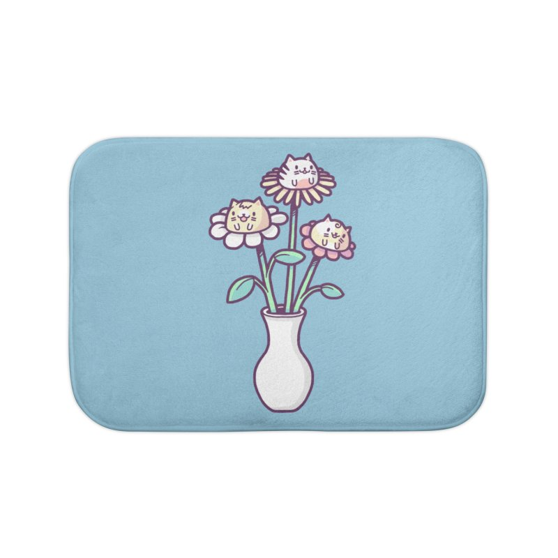 Flower felines Home Bath Mat by Randyotter