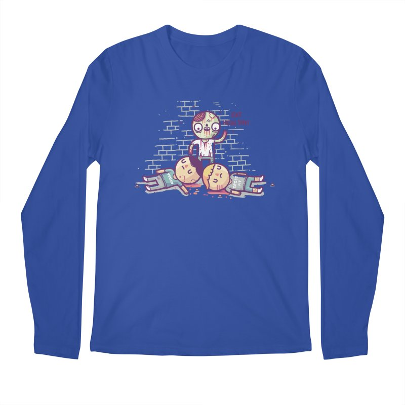 Eat flesh Men's Regular Longsleeve T-Shirt by Randyotter