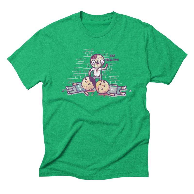 Eat flesh Men's Triblend T-Shirt by Randyotter