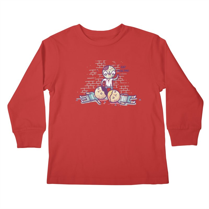 Eat flesh Kids Longsleeve T-Shirt by Randyotter