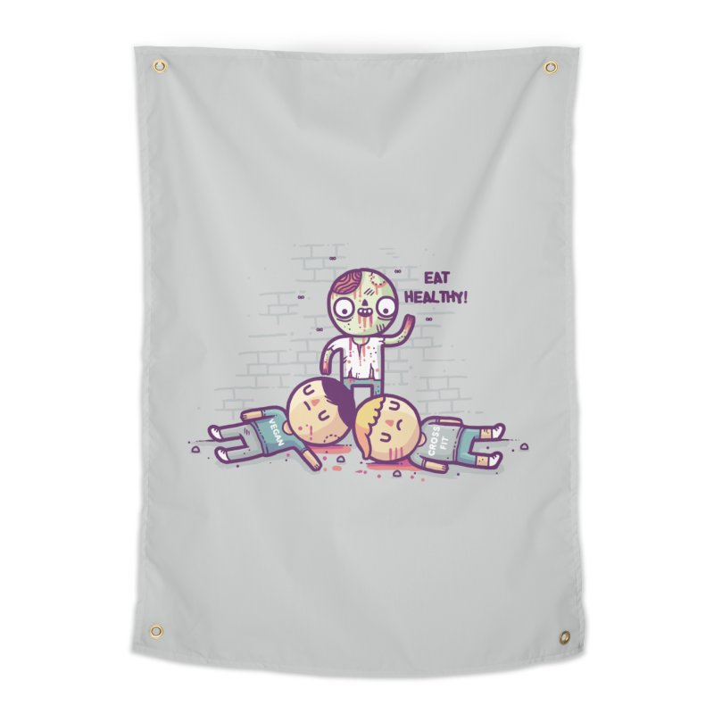 Eat flesh Home Tapestry by Randyotter