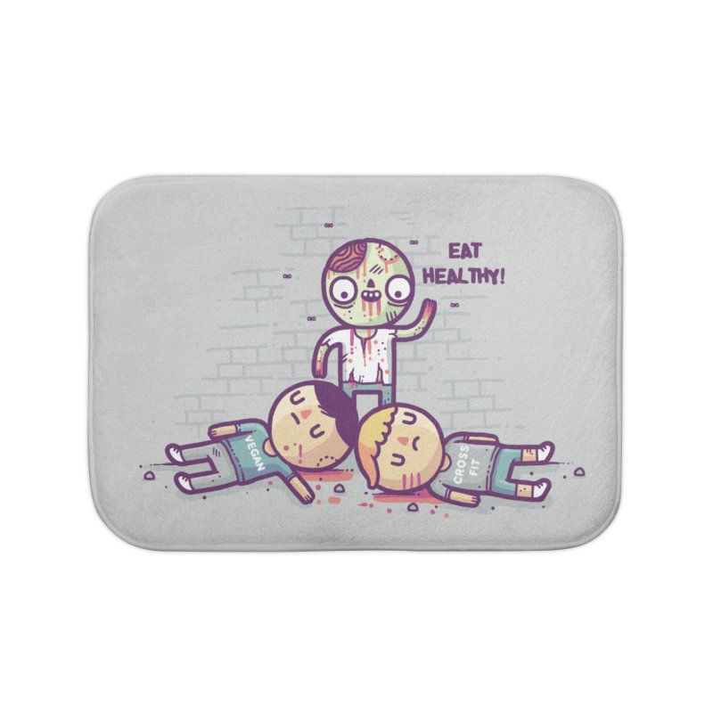 Eat flesh Home Bath Mat by Randyotter