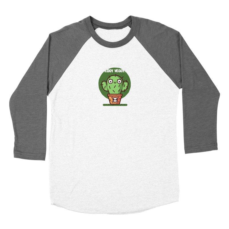 Edgy Veggy Men's Baseball Triblend T-Shirt by Randyotter