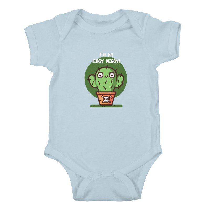 Edgy Veggy Kids Baby Bodysuit by Randyotter