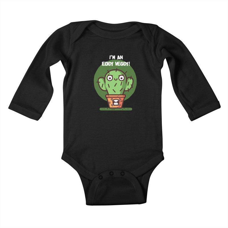 Edgy Veggy Kids Baby Longsleeve Bodysuit by Randyotter