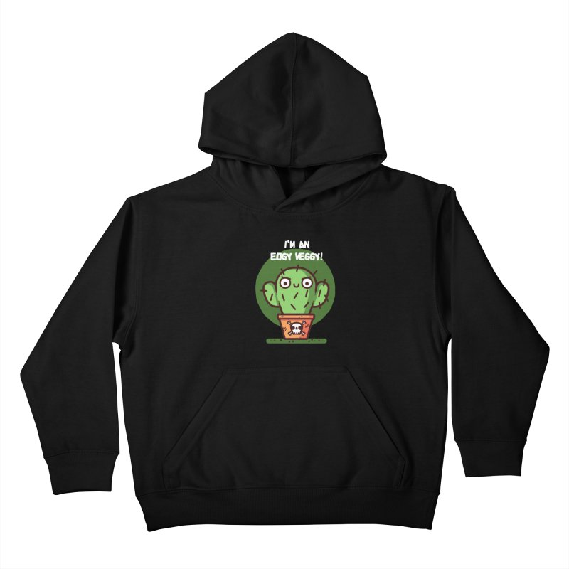 Edgy Veggy Kids Pullover Hoody by Randyotter