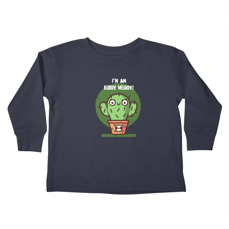 Edgy Veggy Kids Toddler Longsleeve T-Shirt by Randyotter