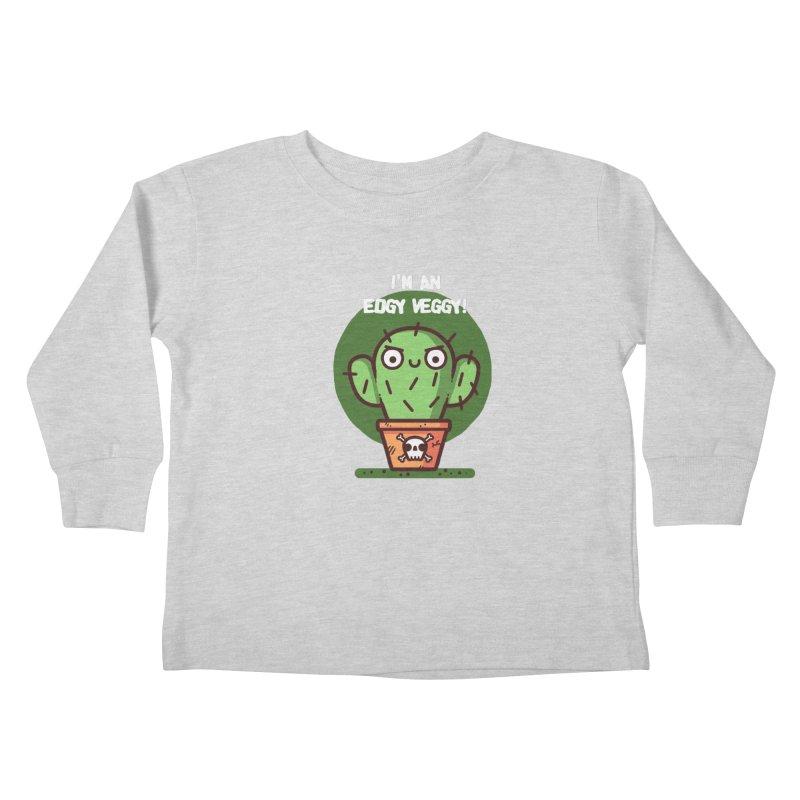 Edgy Veggy Kids Toddler Longsleeve T-Shirt by Randyotter