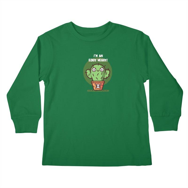 Edgy Veggy Kids Longsleeve T-Shirt by Randyotter