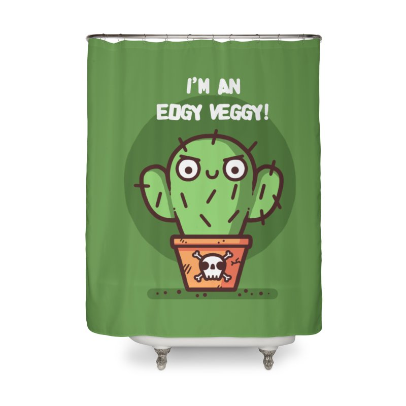 Edgy Veggy Home Shower Curtain by Randyotter