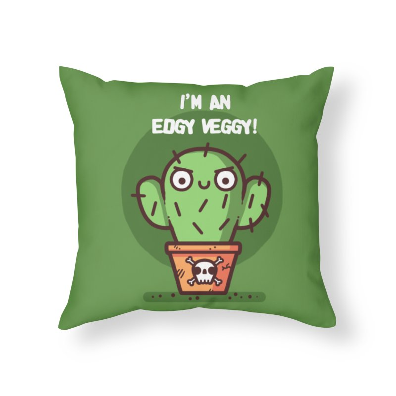 Edgy Veggy Home Throw Pillow by Randyotter