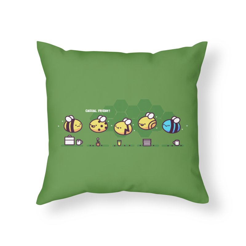 Casual Friday Home Throw Pillow by Randyotter