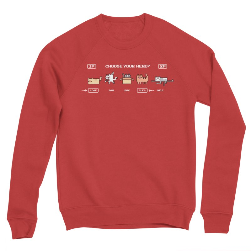 Choose your hero Men's Sponge Fleece Sweatshirt by Randyotter