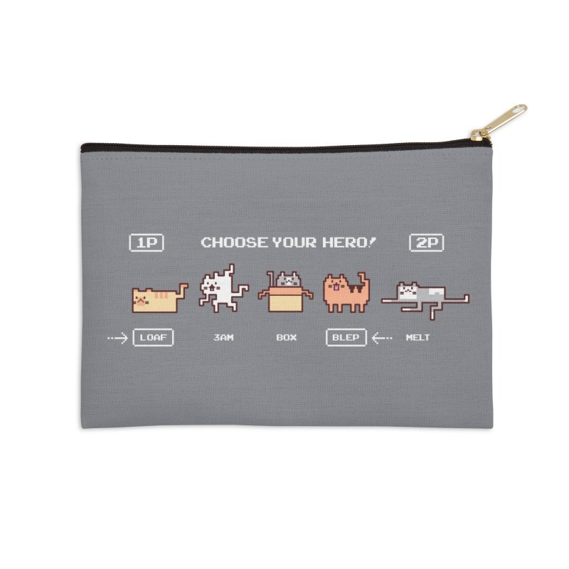Choose your hero Accessories Zip Pouch by Randyotter