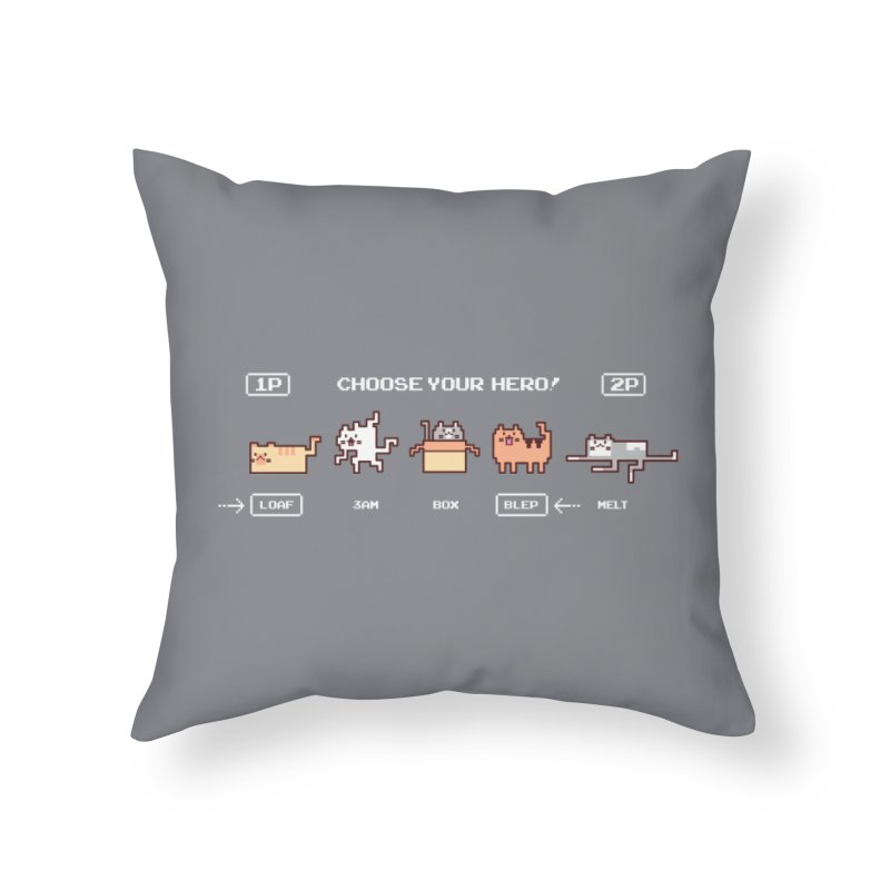 Choose your hero Home Throw Pillow by Randyotter