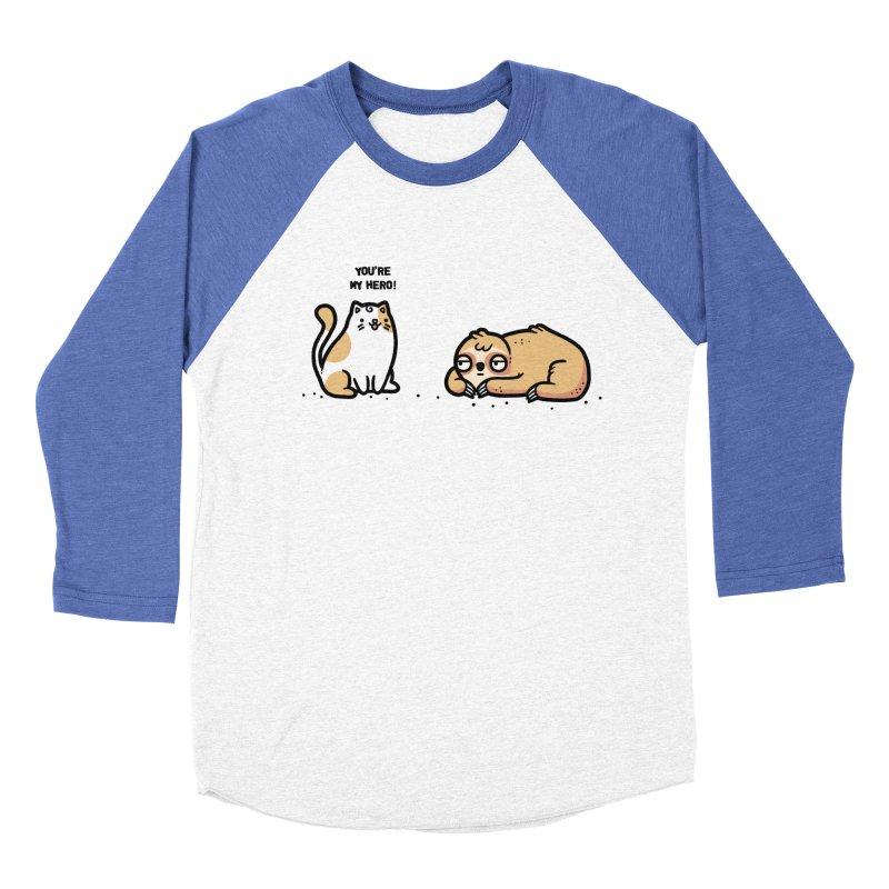 My hero Men's Baseball Triblend Longsleeve T-Shirt by Randyotter