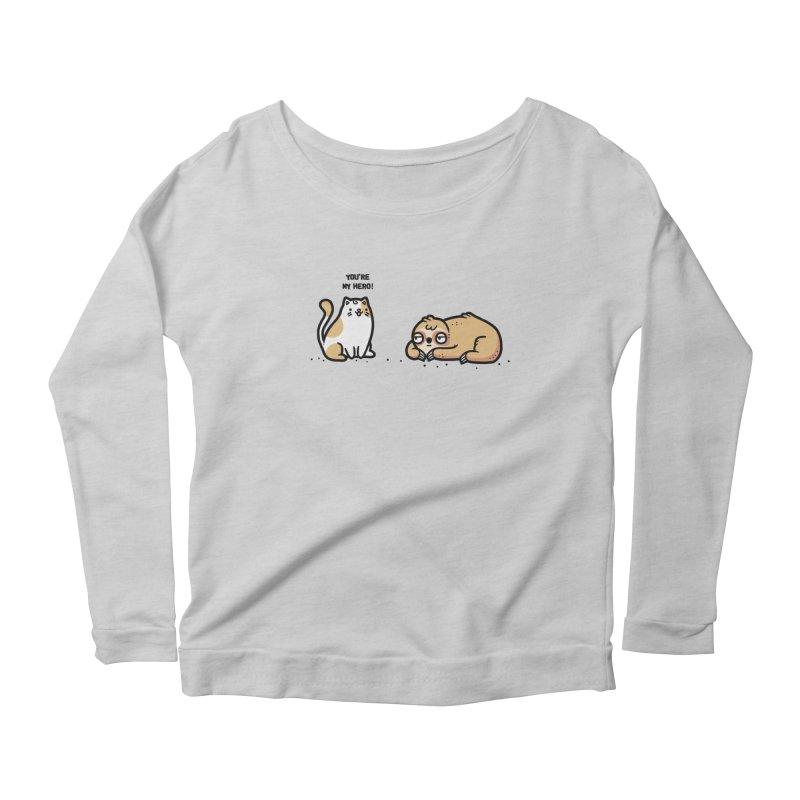 My hero Women's Scoop Neck Longsleeve T-Shirt by Randyotter