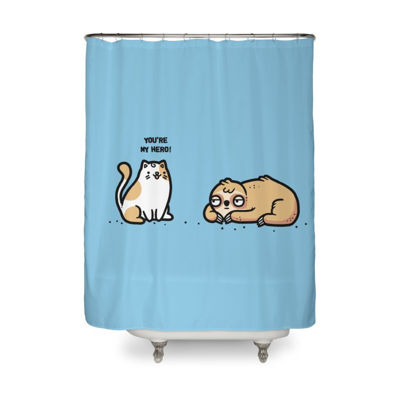 My hero Home Shower Curtain by Randyotter