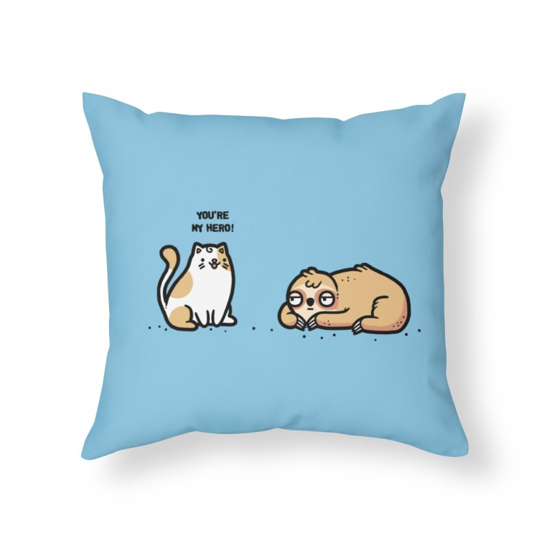 My hero Home Throw Pillow by Randyotter
