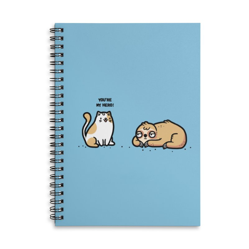 My hero Accessories Lined Spiral Notebook by Randyotter