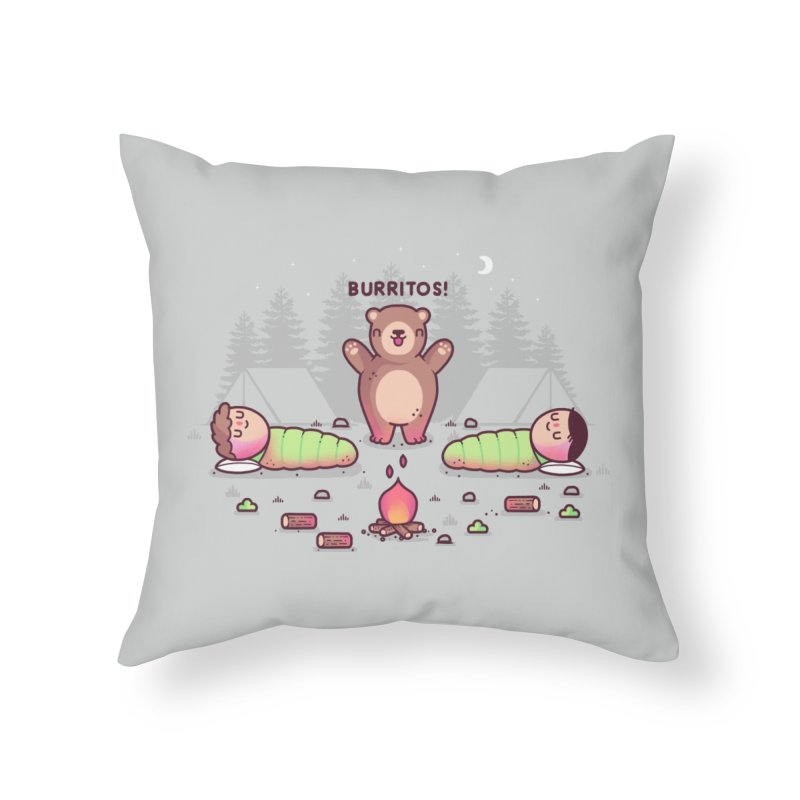 Burritos Home Throw Pillow by Randyotter