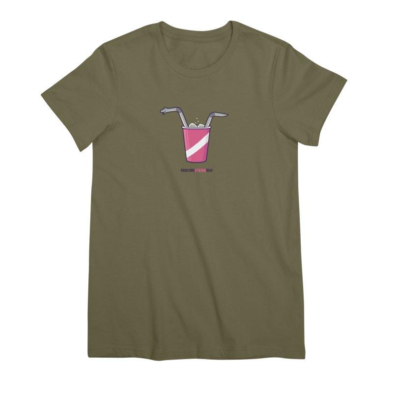 Dinostraw Women's Premium T-Shirt by Randyotter