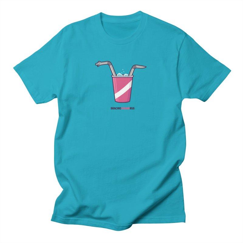 Dinostraw Men's Regular T-Shirt by Randyotter