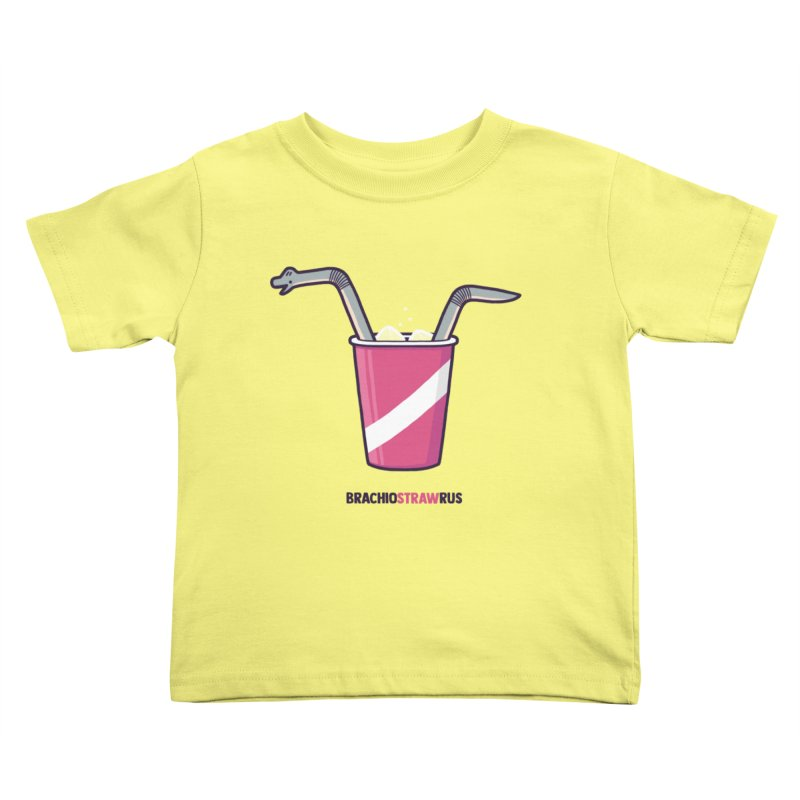 Dinostraw Kids Toddler T-Shirt by Randyotter