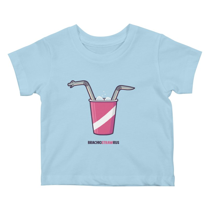 Dinostraw Kids Baby T-Shirt by Randyotter