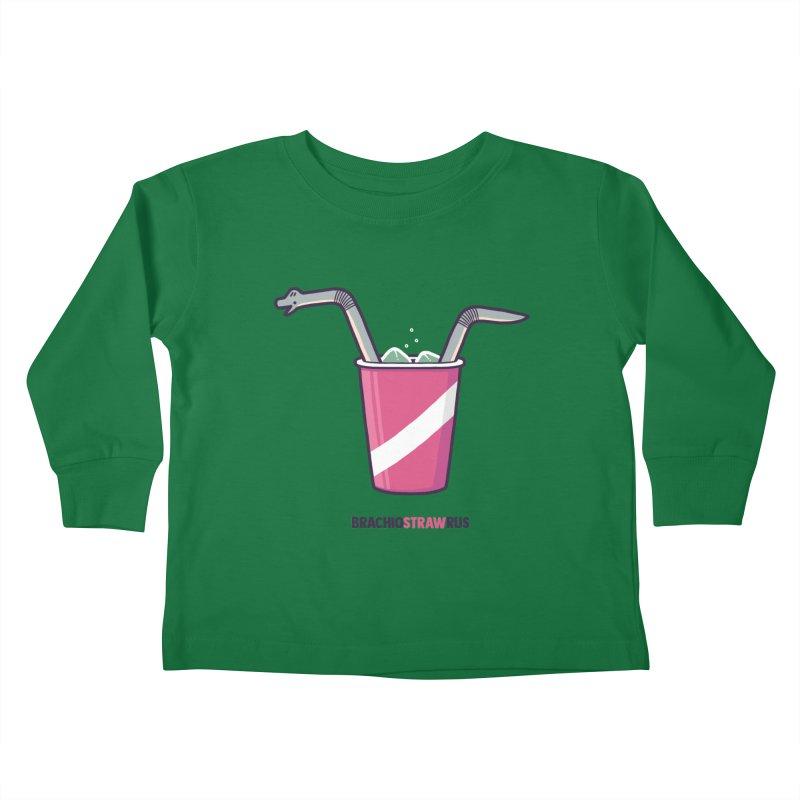 Dinostraw Kids Toddler Longsleeve T-Shirt by Randyotter