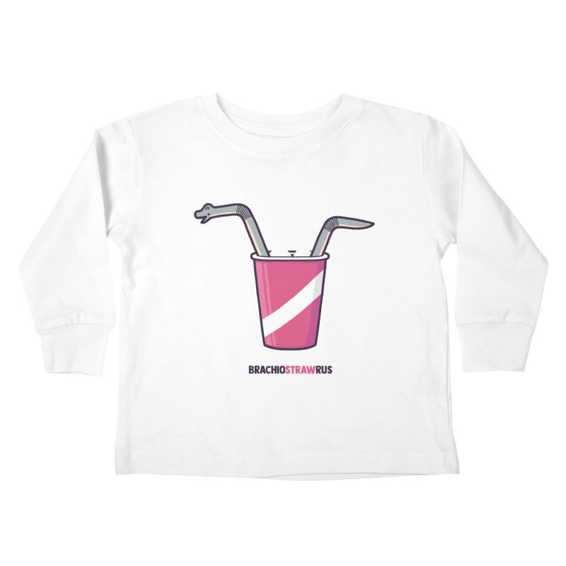 Dinostraw Kids Toddler Longsleeve T-Shirt by Randyotter
