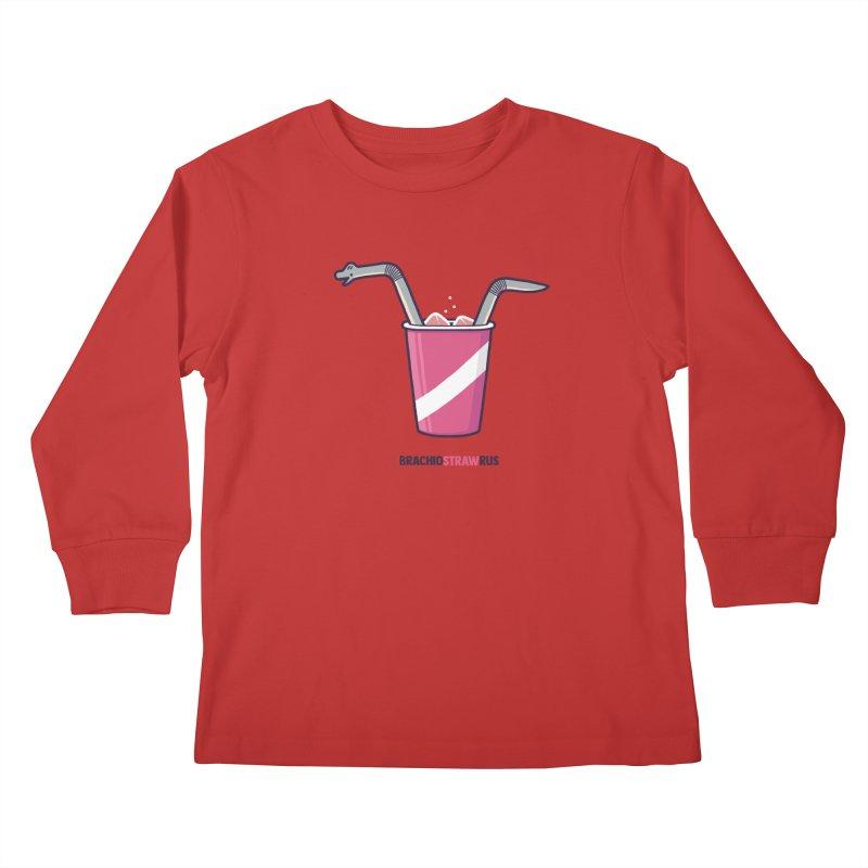 Dinostraw Kids Longsleeve T-Shirt by Randyotter